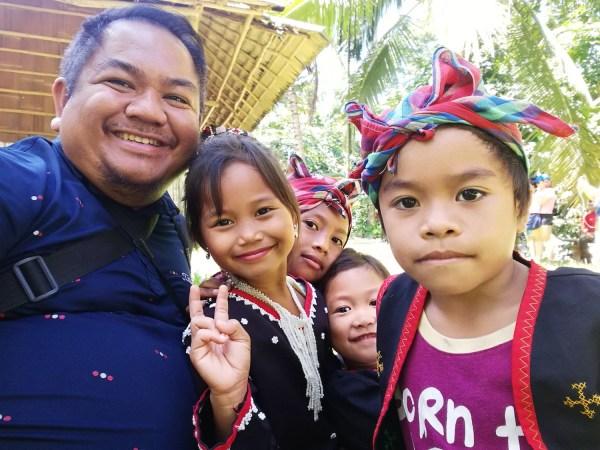 Selfie with Blaan Kids