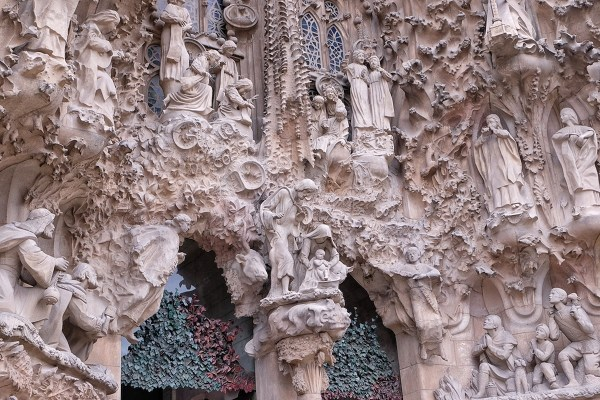 Stone Sculptures at the Facade of La Sagrada Familia