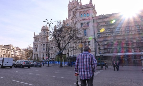 Walking in the streets of Madrid