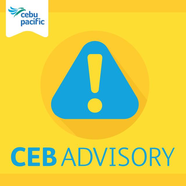 Cebu Pacific Travel Advisory