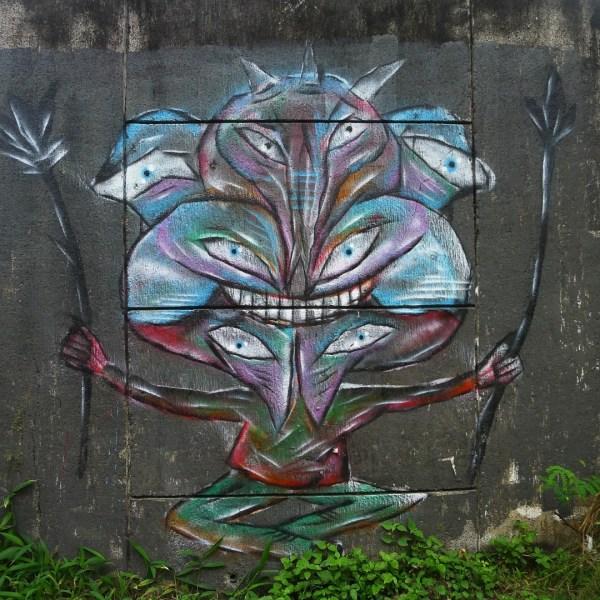 Graffiti on the sidewalk