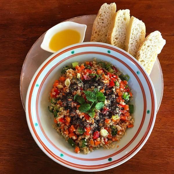 Organic Quinoa and Chia Seeds Salad by La Carinderia FB Page