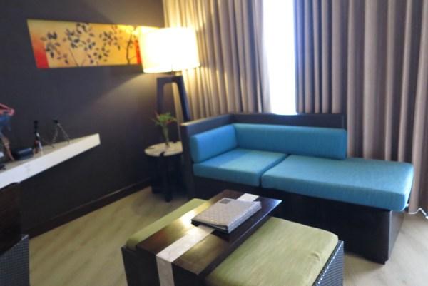Sofa right next to the Veranda photo by Myke Soon
