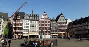 Some of the timber-framed houses on Romerberg