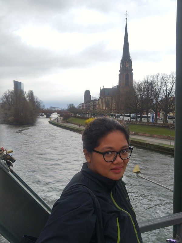 With the Dreikonigskirche behind me