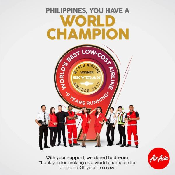AirAsia is the 2017 World's Best Low-Cost Airline
