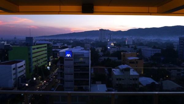 City view at sun down