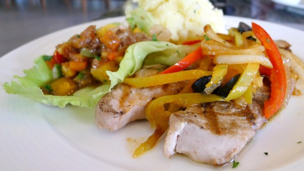 Grilled Tangigue with Mango Pineapple Salsa