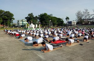 Mass Yoga Session at Municipal Grounds in Echague, Isabela