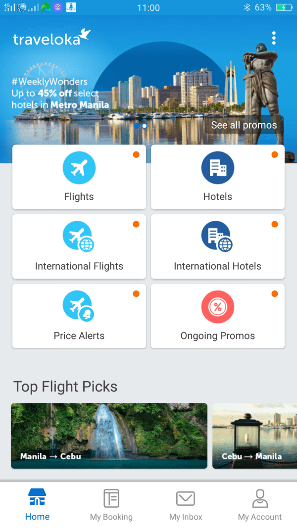 Traveloka easy-to-use user interface