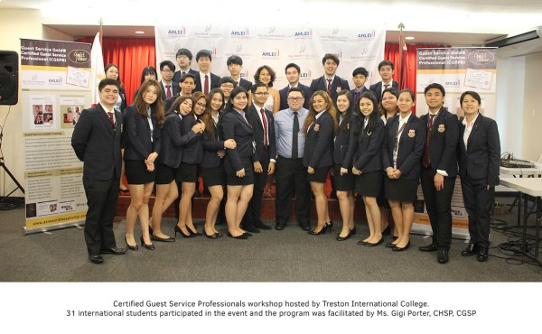 Certified Guest Service Professionals workshop hosted by Treston International College
