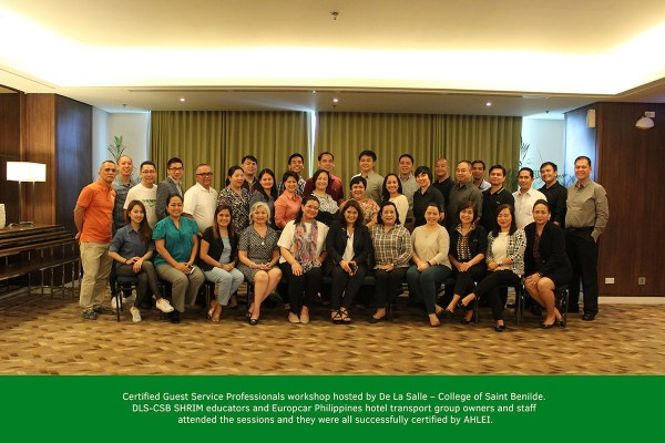 Certified Guest Service Workshop hosted by College of Saint Benilde