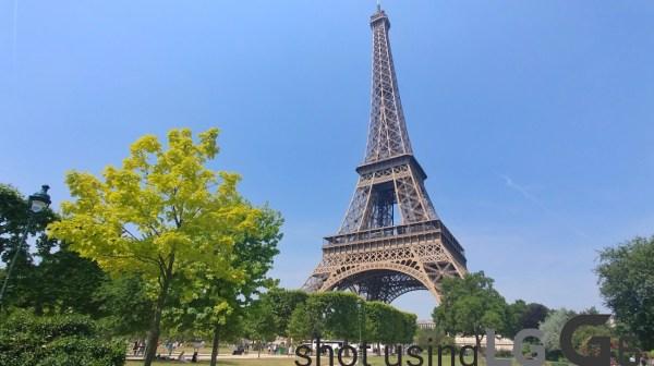 Eiffel tower photo using Wide angle
