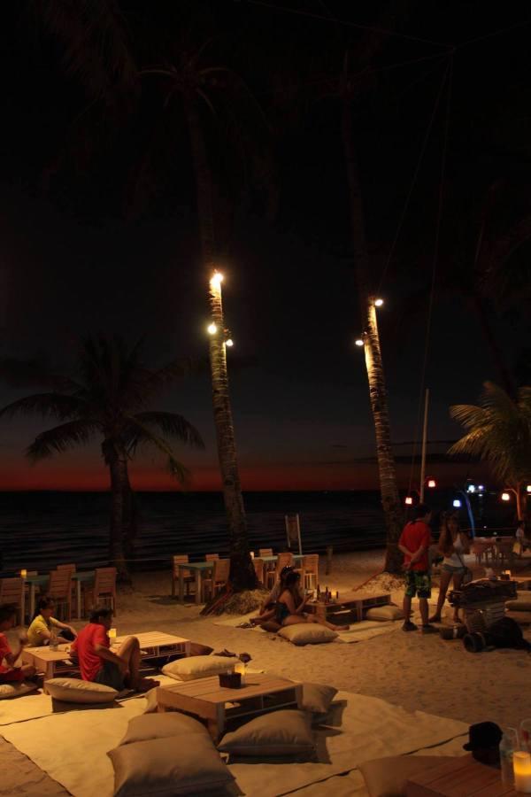 Evening beach lounge