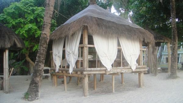 Native style massage area