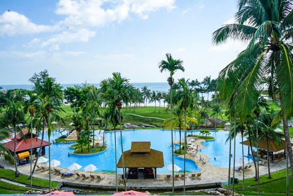Pool Area of Bintan Lagoon Resorts