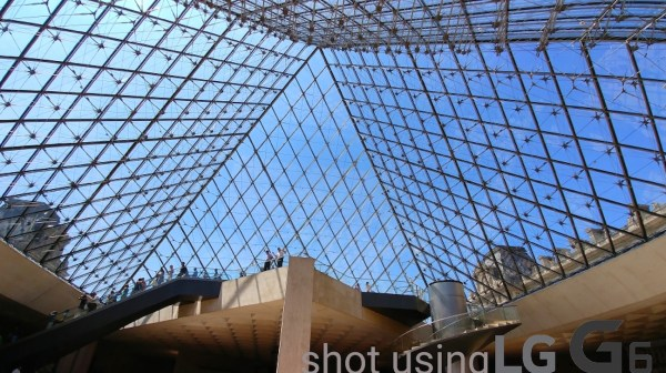 Underneath the Louvre Pyramid