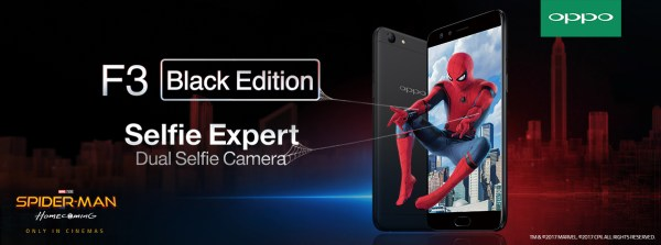 Win Tickets with the New OPPO F3 Black Edition and Watch Spider-man: Homecoming