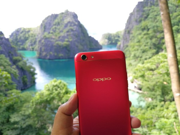 My OPPOF3Red in Coron Palawan