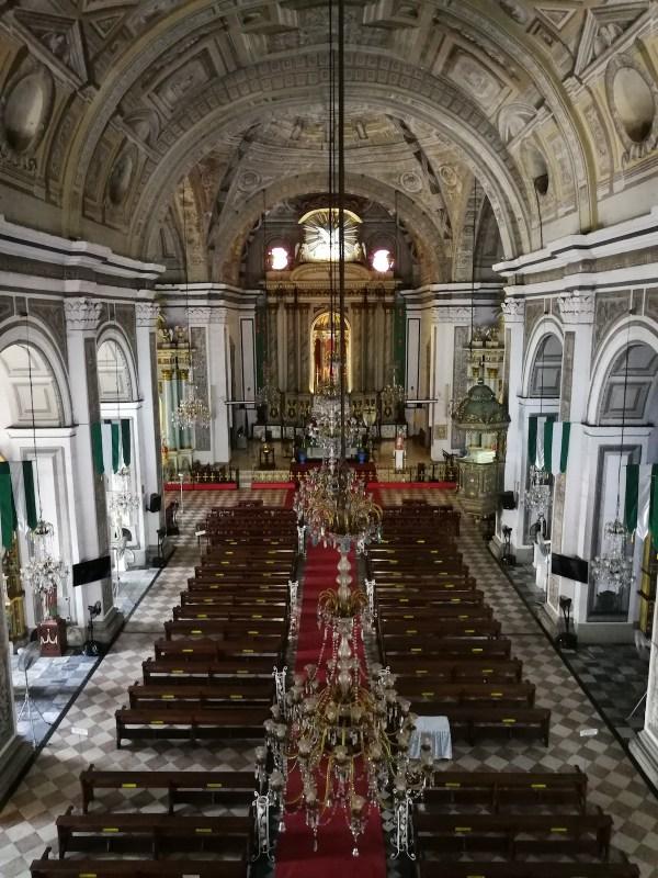 Inside San Agustin Church