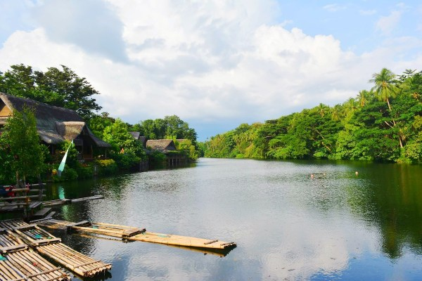 Labasin Lake viewing the magical Mt. Banahaw. - Villa Escudero Plantations and Resort