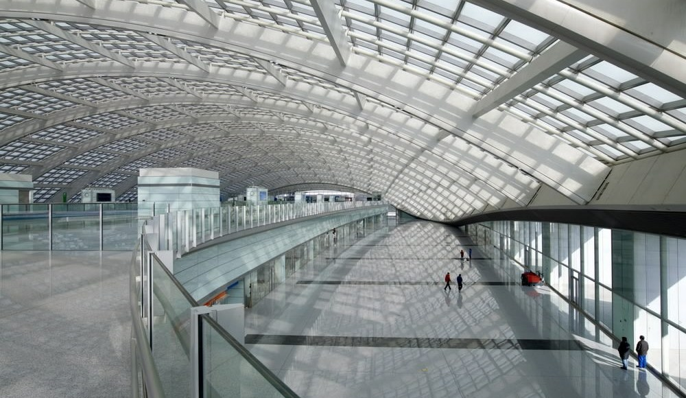 Interior of Beijing Daxing International Airport