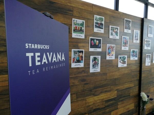 Starbucks Teavana Frozen Teas launch