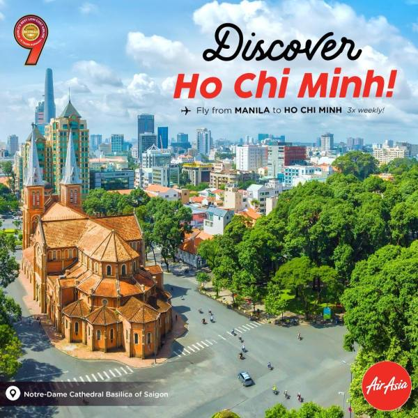 Fly from Manila to Ho Chi Minh via AirAsia
