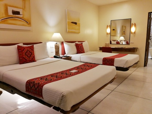 Bluewater Panglao Resort cantilevered beds