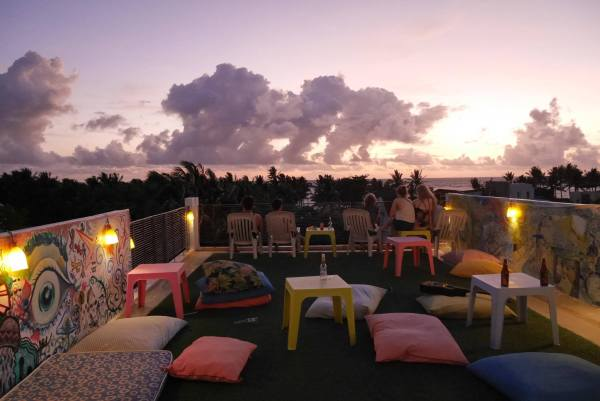 Roof deck chillout. Photo by MNL Beach Hostel