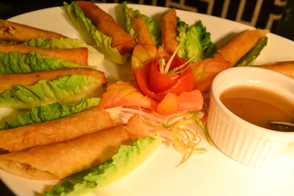 SMOKY ROLLS. Tinapa flaked and encased in lumpia wrapper is another way of saying that tapas need not to be exclusive.