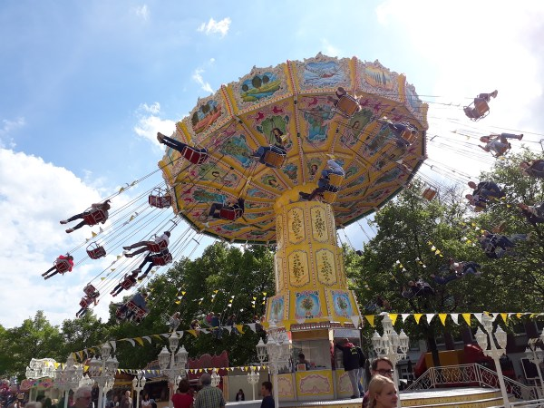 One of thrilling carnival rides at this year's Maiwoche!