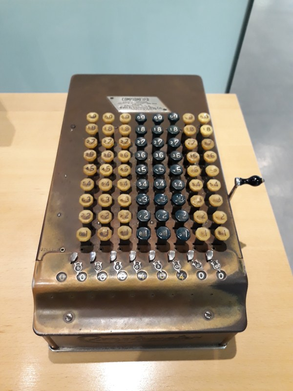 Another one of the early cash registers, one of two that you can touch and use