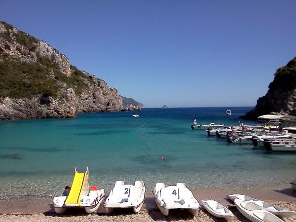Beach in Corfu Greece