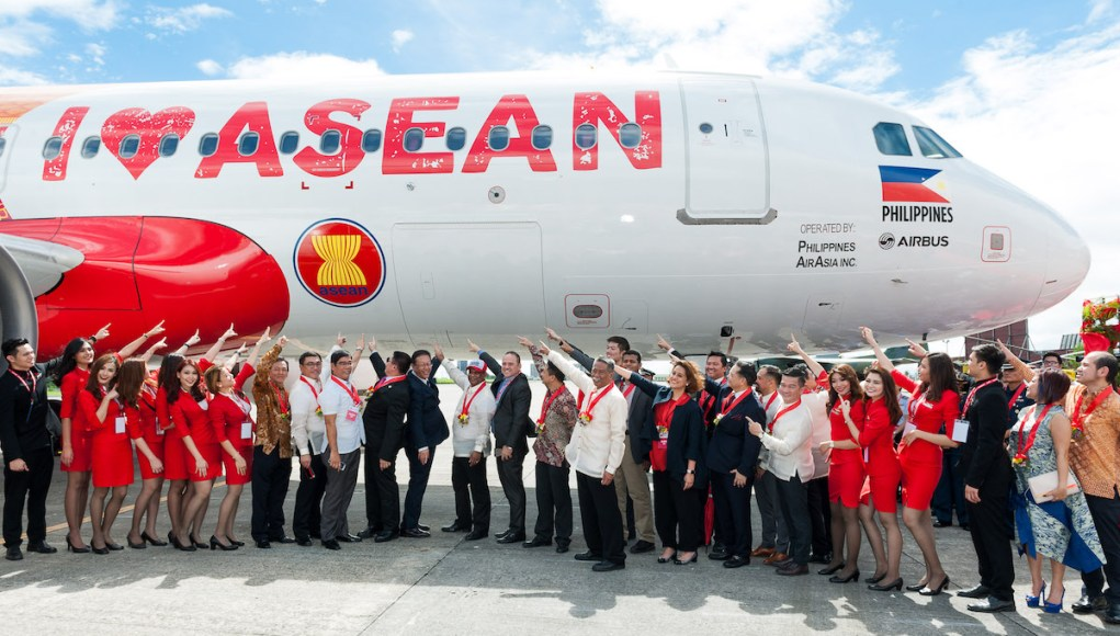 AirAsia loves Asean livery on AirAsia's AirbusA320 was officially presented today in celebration of ASEAN50.