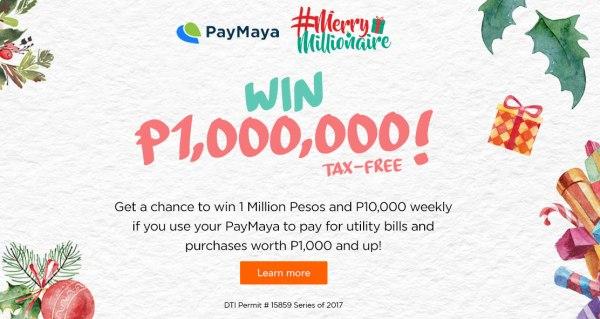 PayMaya Merry Millionaire Promo