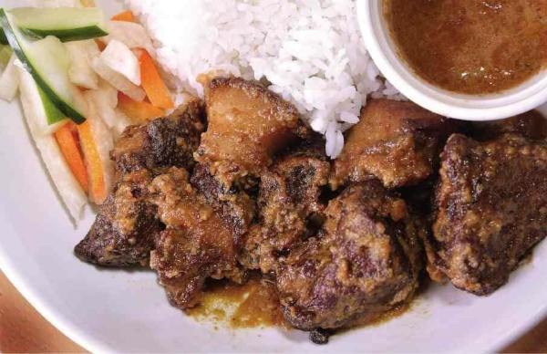 Twice cooked adobo ni Lola Damiana - One Stop Food Hub on Boracay