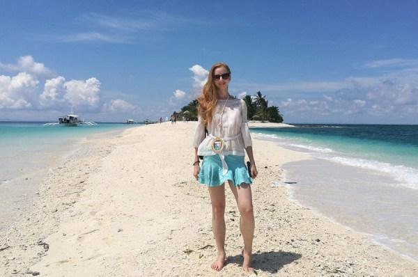 Veronika Hradilikova in Kalanggaman Island Philippines