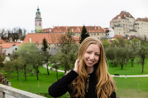 Veronika in Cesky Krumlov Czech Republic