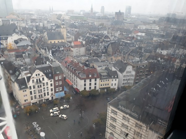An aerial shot of the Altstadt, taken from up on the ferris wheel.