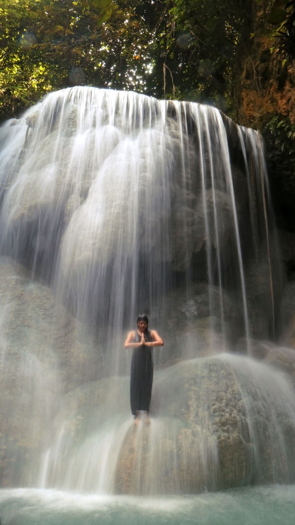 Me at Aguinid Falls Level 5 – credit Louise Santiano