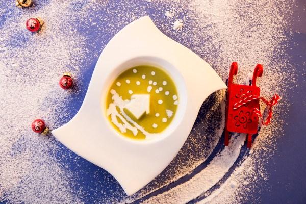 Snowy Pea Soup