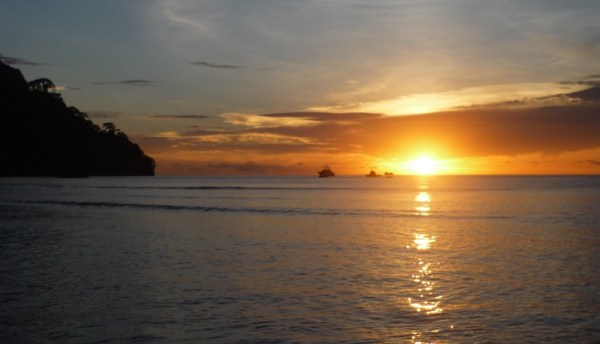 Wafer Bay Sunset in Cocos Island