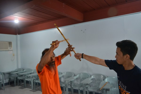 Arnis, part of the practical defense, showed by arnis facilitator