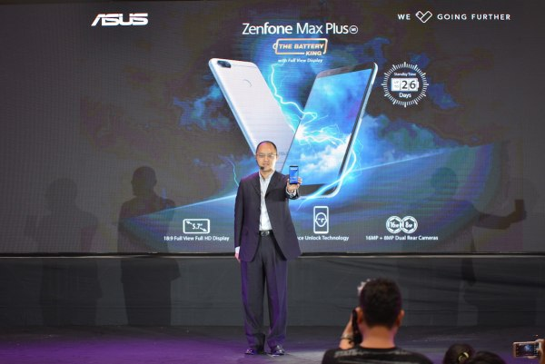 Country Manager George Su and the ZenFone Max Plus