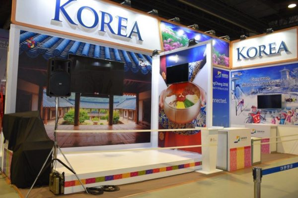 Korea Booth at the PTAA 2018 Philippine Travel Tour Expo