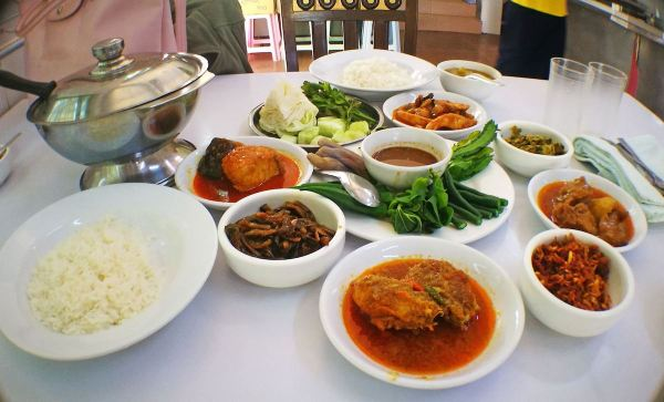 Burmese food in our Mandalay Trip