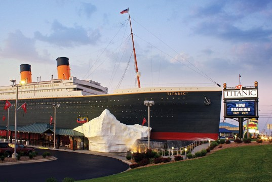 Titanic Museum Attraction in Pigeon Forge . Image via chicagomag.com