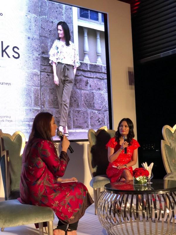 Host interviewing AirAsia Red Talk host Daphne Ocena Paez