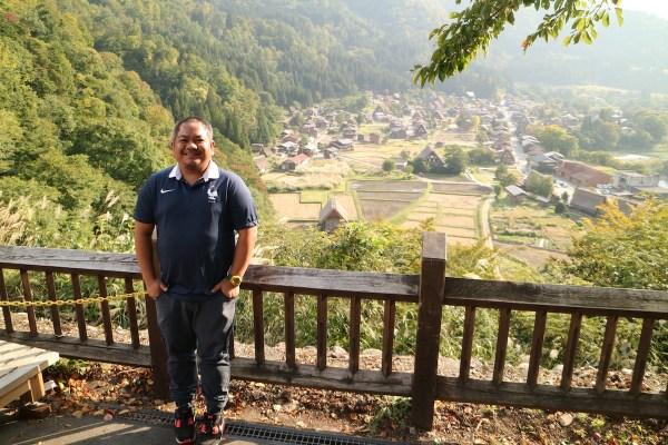 Melo at the Shiroyama Viewpoint